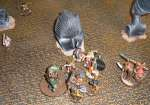Beastmen and Ogres Vs Dwarfs.