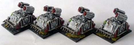 Sin Eater Whirlwing Artillery Support Vehicles