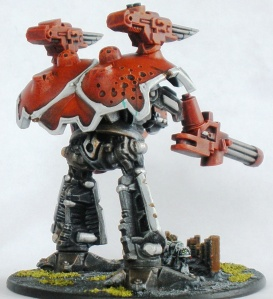 Warlord rear view.  Note the Sin Eater Marines at its feet