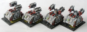 Sin Eater Whirlind artillery support vehicles
