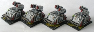 Sin Eater Whirlwind artillery support vehicles