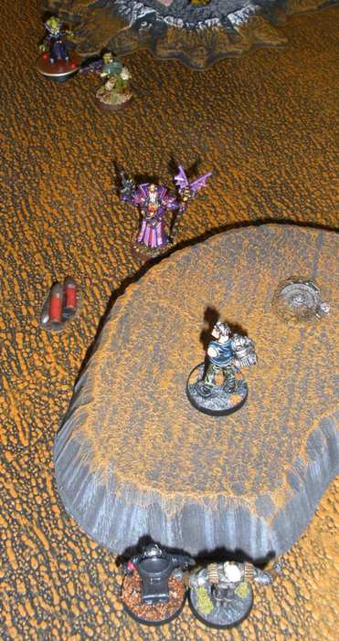 Karloth Valois drops his prize while under pressure from Mean Machine, Cyber-Hitler and Silvernail.