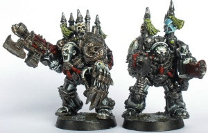 Sin Eater Terminator with Combi-Flamer and Sergeant Romero armed with Combi-Bolter and Chainfist