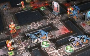 Pressure builds as Calistarius tries to catch a moment to back into the objective room and take the sample.