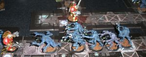 The Librarians luck runs out (it takes him 6APs to kill one 'stealer) and he is overrun at the doorstep of victory.