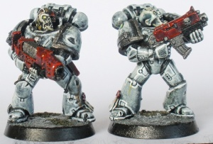 Plasma Gun and Bolter Marines
