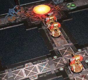 The flamer uses the last of its fuel to clear a room for the slow advance.  The flamer marine dies almost immediately afterwards.