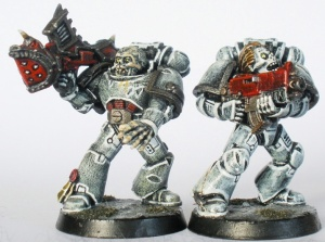 Missile Launcher and Bolter Marines