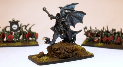 10mm Nazgul mounted on Fell Beast