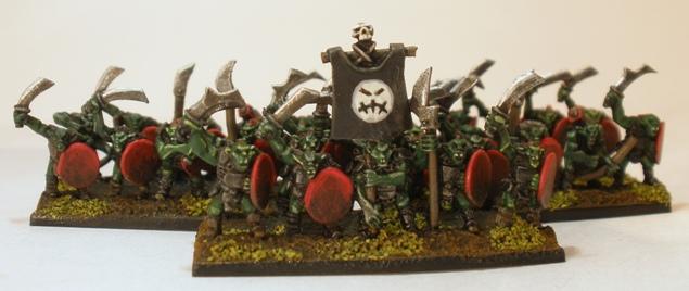 - 10mm Warmaster Modèl 2 Orcs Goblin Warriors