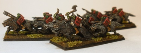 10mm Goblin Wolf Riders