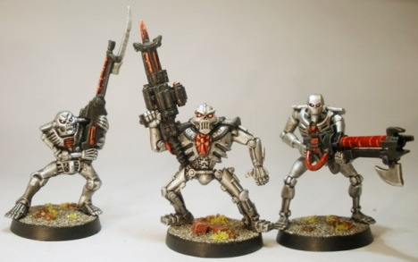 Space Crusade Chaos Android, GW Necron Warrior (90s), GW Necron Warrior