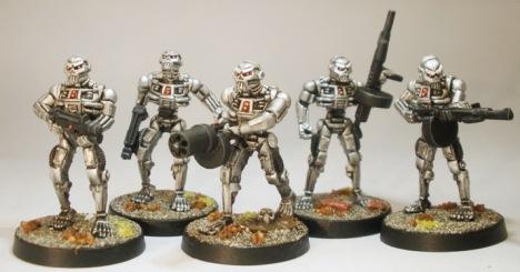 EM4 Skeleton Robots