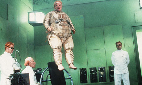 Floating fat man from space.