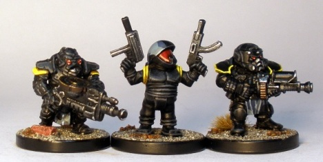 L to R: Forgefather Stormrage Veterans, Runt, Forgefather Steel Warrior