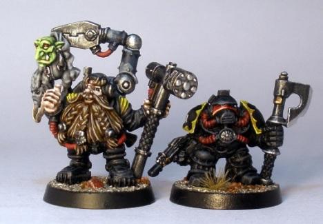 L to R: White Dwarf LE, Squat Adeptus Mechanicus