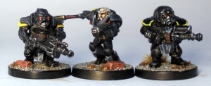 L to R: Forgefather Stormrage Veteran, Grymn Torsten, Forgefather Steel Warrior