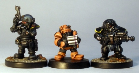 L to R: Runt, Iron Bonce, Forgefather Steel Warrior