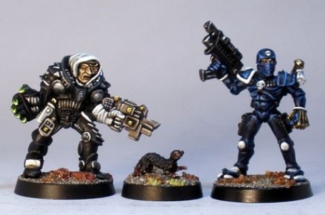L to R: GW Inquisitor, Reaper Ferret Familiar, GW Assassin
