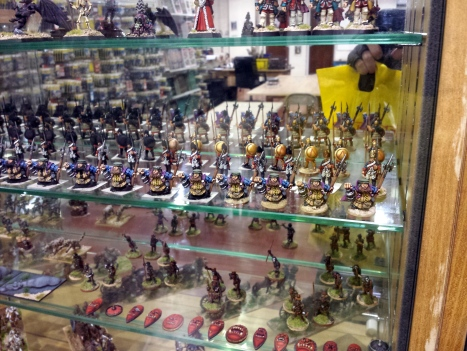 Lovely miniatures in Foundry Cabinets.  They make me want to snap all of my paintbrushes.