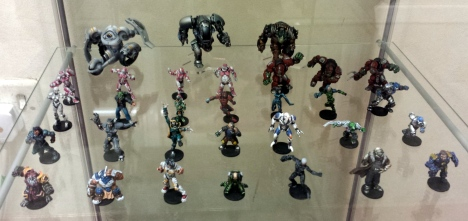 DreadBall Miniatures in the Mantic Studio