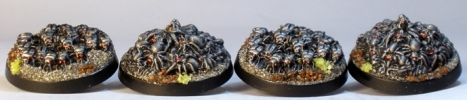 Reaper Bones beetle and spider swarms.