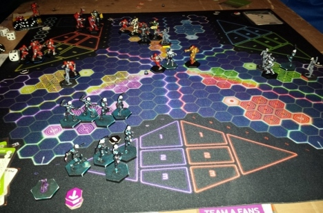 The Zephyrs compete in the UK & Ireland Ultimate DreadBall Championship last Saturday.