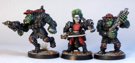L to R: Deadzone Orx Marauder, Blood Axe Human Advisor, Deadzone Blood Axe Orx