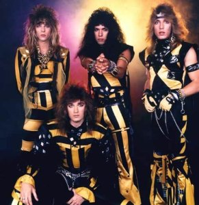 Stryper: one of the top Christian glam rock bands of all-time.  And some people think that toy soldiers are weird...