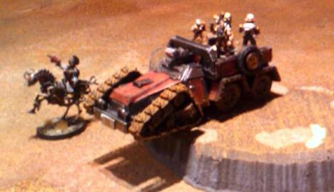 """Doggone it if them Duke boyz aint at it agin!"" Its not actually Bo and Luke.  The stolen trukk is being driven by an Ursa Miner while Vim Petrol performs bodyguard duty for a Melmacian who must be kept alive at all costs, for frankly unlikely reasons. Yeee-haw!"