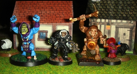 L to R: Skeltork/theottovionbismark, Inq. Verhoeven/cheetor-sho3box, Fimm Warrior/Mr Saturday, Orko/Just John
