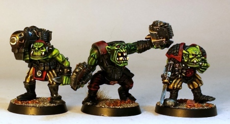 L to R: 1980s ork, late 2000s ork, 1980s ork.