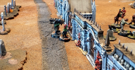 Hotshot and Roger approach a vantage point at the wall and keep the pressure on the remnants of the Northmost emissaries...