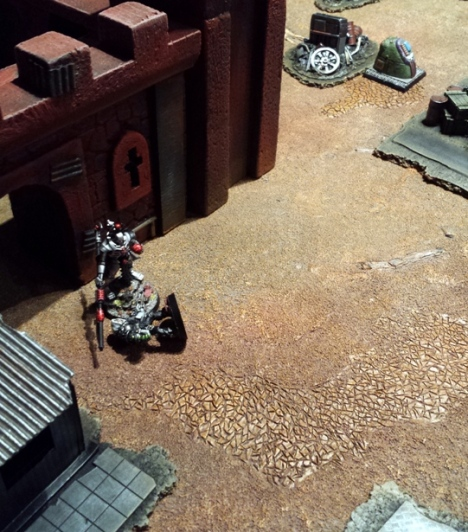 ...allowing the Cyber SHogun to escape, the inert form of the Inquisitor levitating behind.  +++ THEY MAY HAVE DELAYED THE REVIVAL OF MY MINIONS BUT I HAVE THE INQUISITOR.  HA.  HA. H.... WHATS THAT APPROACHING FROM THE EAST? +++