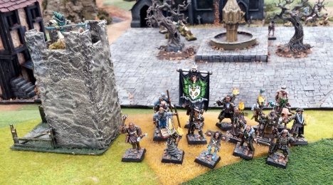 One of the tables that kept drawing me back for another look over the weekend was the Realms of Chaos warbands game.  BEautiful evocative miniatures involved in games that have been on the to-do list for over quarter of a century.  Sublime.