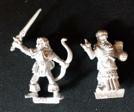 L to R: Unreleased Wood Elf, Unreleased Marauder Wizard.