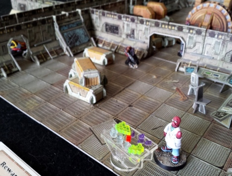 Voidstroms gambit works, throwing the Purgator trooper off guard enough to allow the Doctor to quickly download the data from the Holo-Generator and escape through the door into engineering...