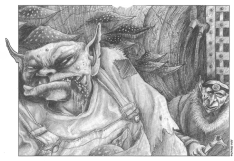 """Brainboyz illustration by John Blanche, from """"Waaargh the Orks!"""""""