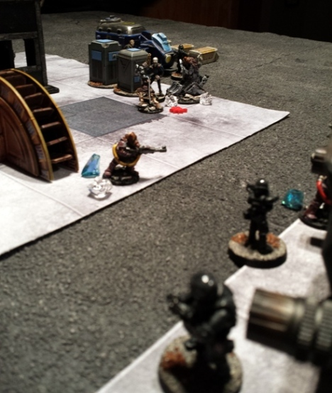 ...while yet more Purgators open fire and draw the attentions of the Cartel forces.