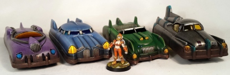 The four different Marx car designs.