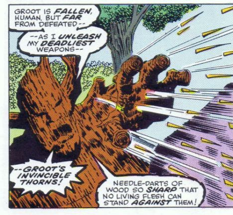 Even by comic book standards, thats an impressive amount of blah, blah to occur during one salvo.