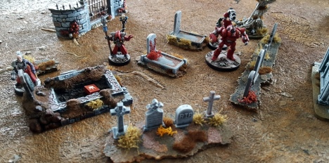 The Kabeiroi pick their way through the ancient burial site, attempting to isolate one of the anomalies, in order to give them access to the portal.