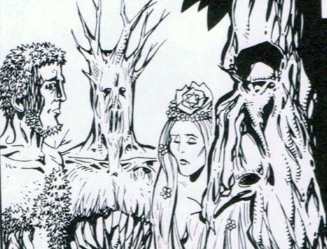 Plant people from Nemesis the Warlock in 2000AD.