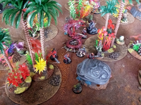 The Purgators efficient deployment is badly disrupted by a Catachan Devil ambush.  This bodes well for the local forces.