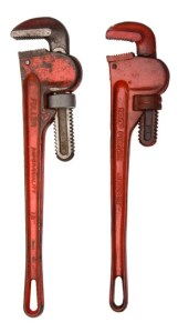 A pair of wrenches.