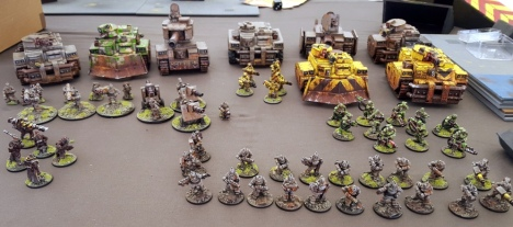Not many people can field an army that they have sculpted, manufactured, marketed, sold and painted, but Curtis can.