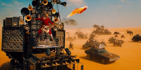 Coma the Doof Warrior on the Doof Wagon in Mad Max: Fury Road