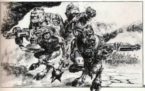 One of my very favourite Warhammer 40,000 illustrations ever, by the Pan-galactic Paul Bonner.