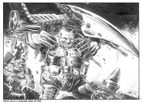 A ogryn waving a jetbike around by the peachy Pete Knifton.