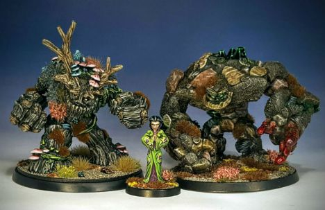 L to R: Reaper Spirit of the Forest, Hasslefree Mineko, Reaper Earth Elemental
